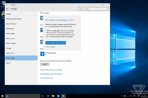 Microsoft really doesn't want Windows 10 users to switch to Chrome