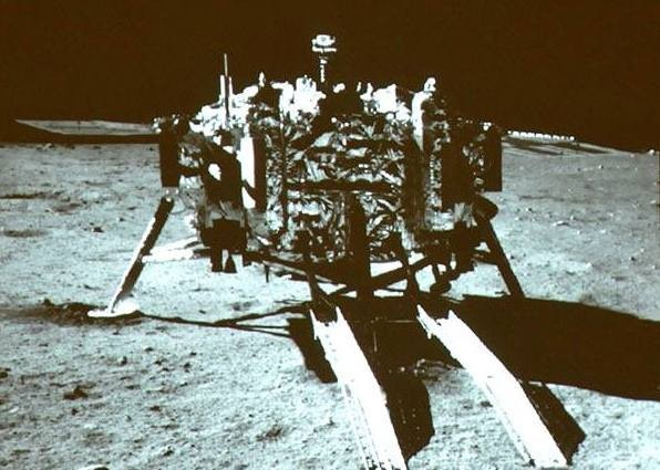 China's moon rover takes its first photo