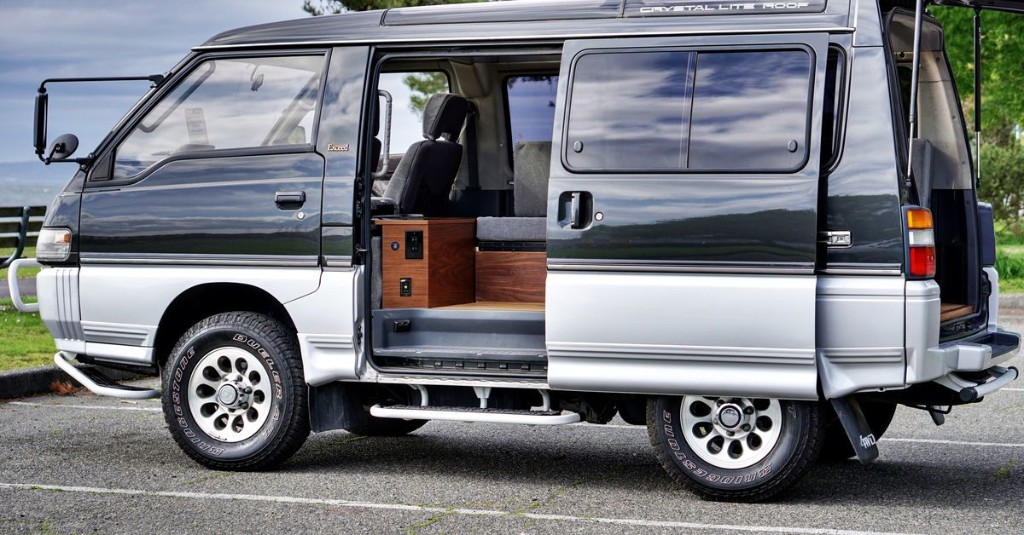 Rare four-wheel-drive van transformed into simple camper