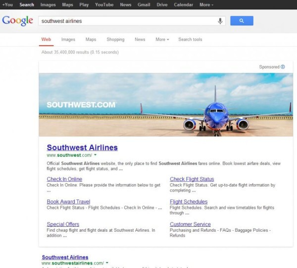 Google's killed off an experiment that put giant banner ads atop search results