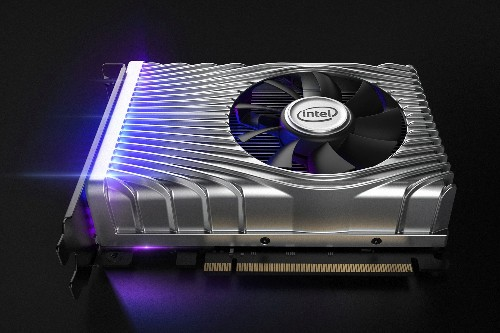 This is Intel's first discrete graphics card in 20 years, but you can't buy one