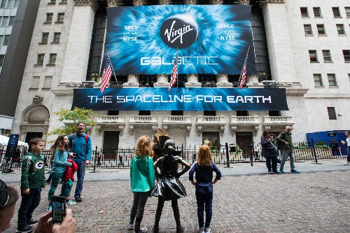Virgin Galactic celebrates first day on the New York Stock Exchange