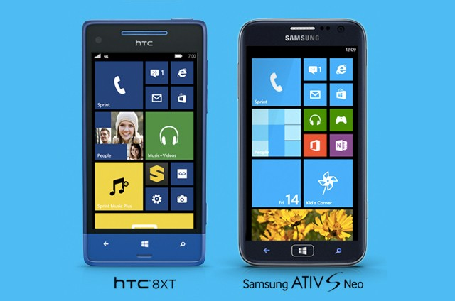 HTC 8XT and Samsung Ativ S Neo are Sprint's first Windows Phone 8 devices