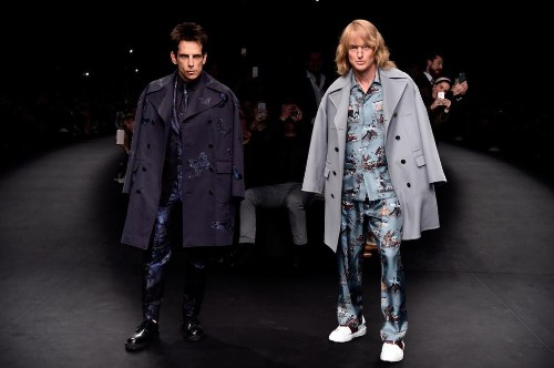 Derek Zoolander and Hansel just posed at a Paris fashion show