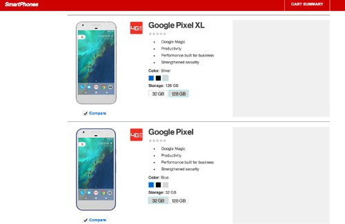Verizon is latest to leak Google's Pixel phones, and they come in blue