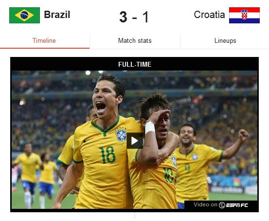 Google and ESPN partner to put World Cup highlights in search