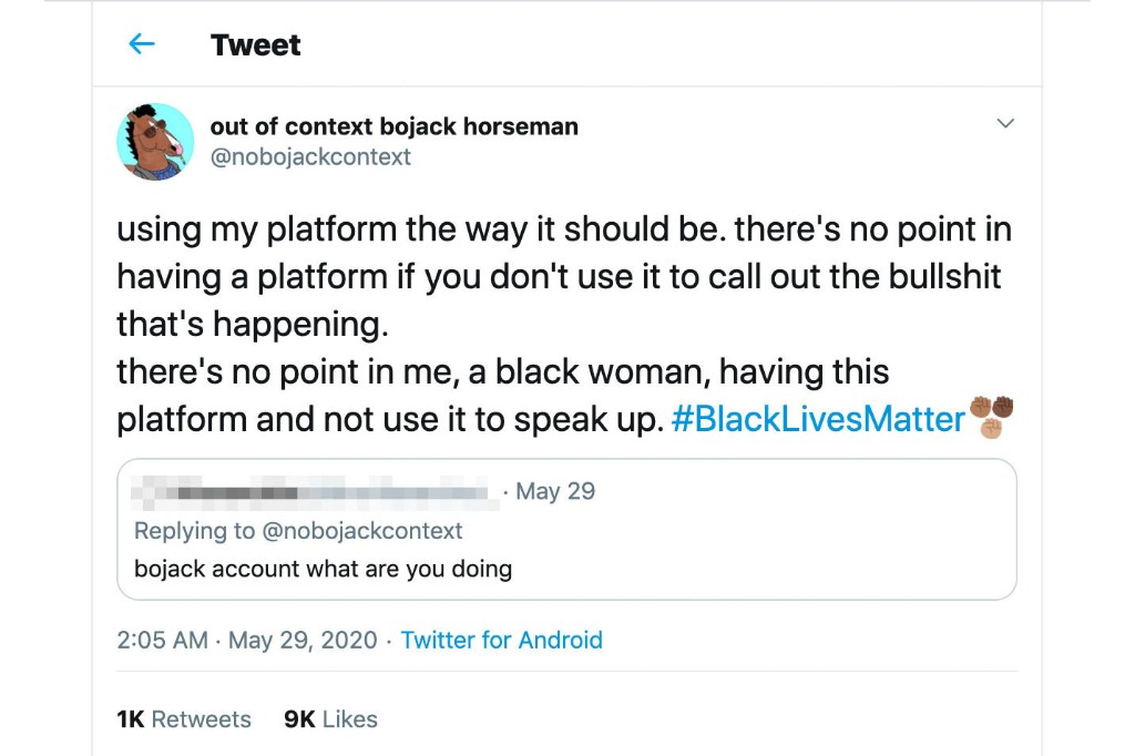 'Out of context' Twitter accounts are turning into protest accounts