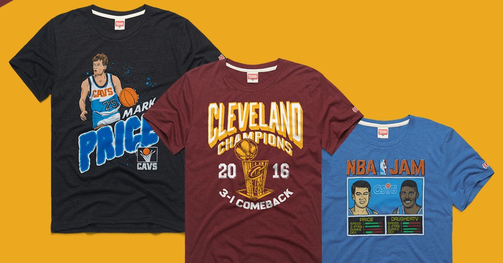 These Homage shirts can help you relive the Cavs' glory days