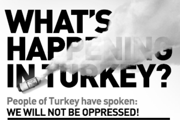 Turkey protestors #Occupy New York Times after $100,000 crowdfunding campaign