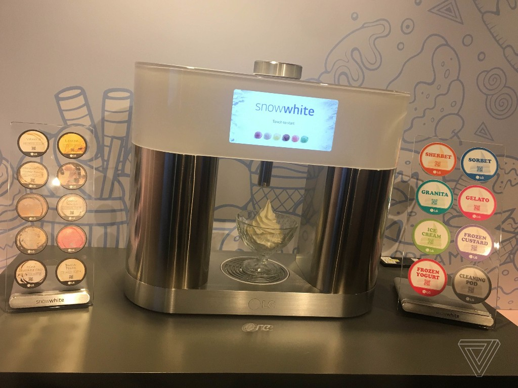 LG might sell a pod-based ice cream-making gadget in the future