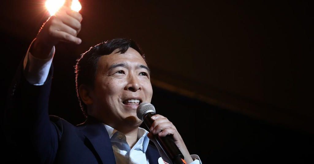Andrew Yang wants to sell you universal basic income. Beware if you have disabilities.
