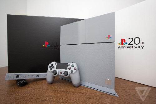 Up close with the beautiful 20th anniversary PlayStation 4