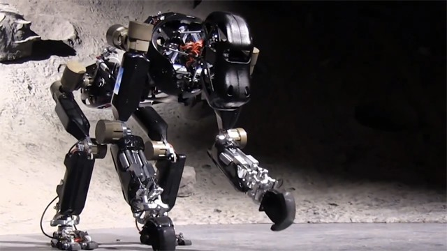 Robotic ape uses complex feet to move on all fours