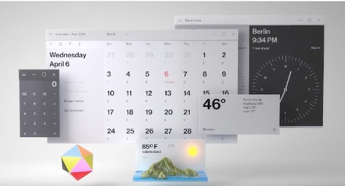 Microsoft's design video features a completely redesigned desktop and email app