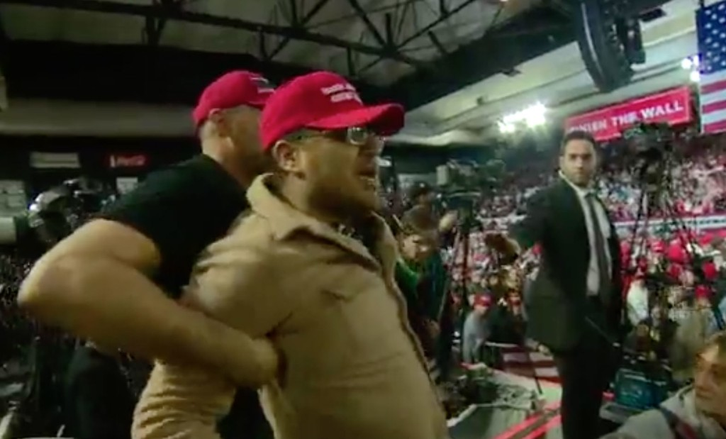 A BBC cameraman was assaulted during Trump's rally in El Paso. Trump kept attacking the media anyway.