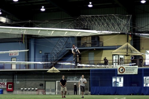 Human-powered helicopter hovers accurately for 60 seconds, beats 'impossible' challenge
