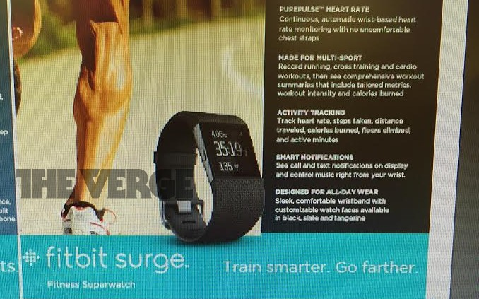 This is the Fitbit Surge, a $250 'superwatch' with built-in GPS