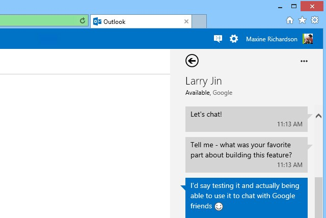 Outlook.com gets Google Talk support, rolling out worldwide this week