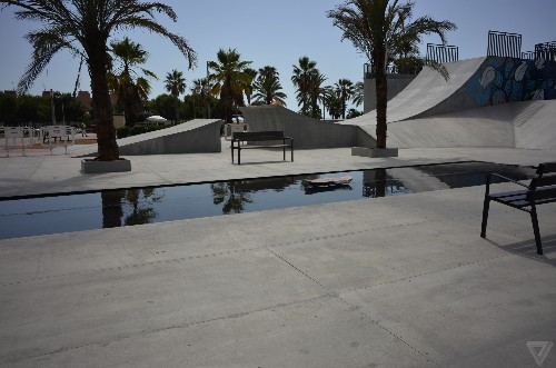 I rode the Lexus hoverboard at a skatepark in Spain