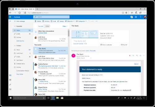 Microsoft reveals lots of new Outlook features following Gmail redesign