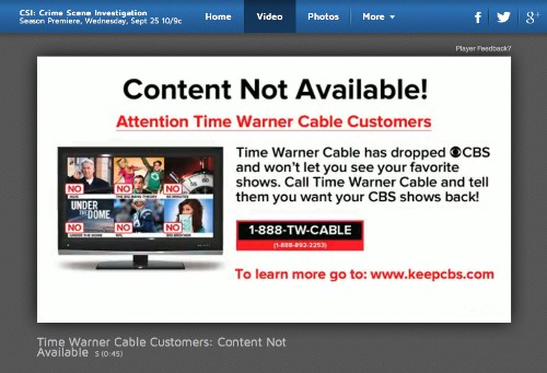 Is CBS's web blocking of Time Warner Cable customers illegal? Senator wants FCC to investigate