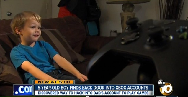 5-year-old discovers major Xbox One security flaw, earns big reward