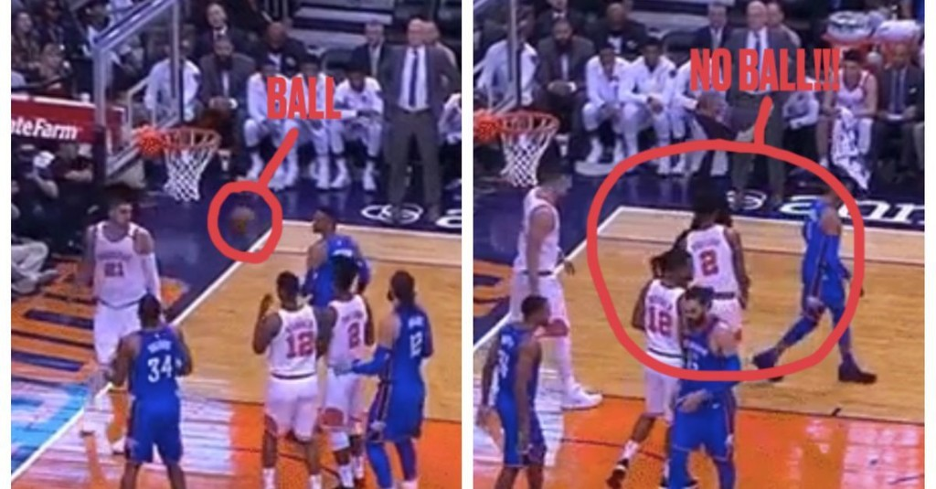 Russell Westbrook slapped a basketball and it disappeared into thin air