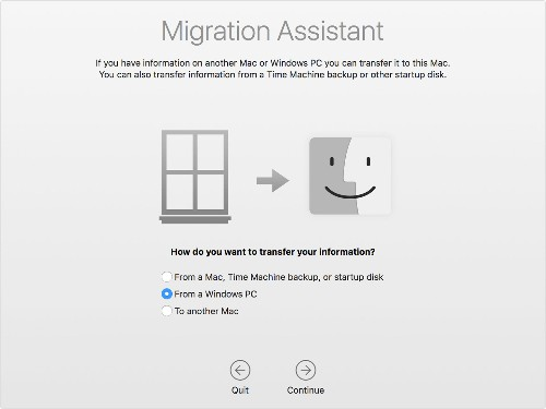 Apple adds improved Windows Migration Utility to macOS Mojave