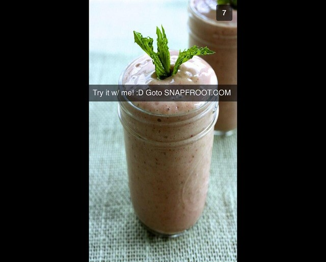 Snapchat hack sends people pictures of smoothies