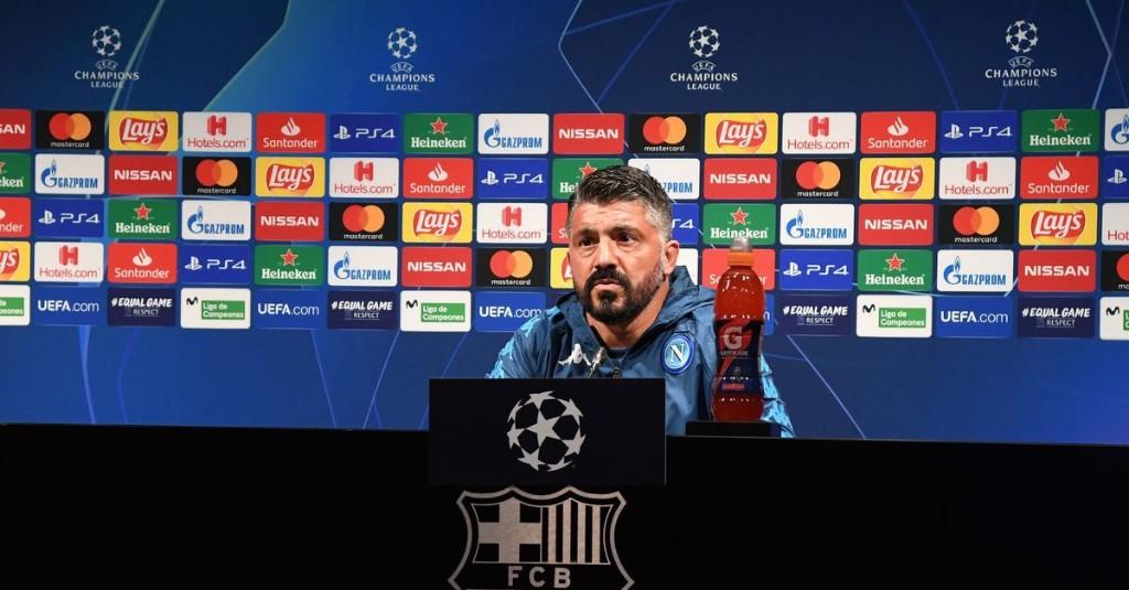 "Gattuso says Napoli ""have to climb Everest"" against Barcelona"