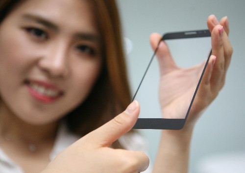 LG's new fingerprint reader sits under a smartphone screen