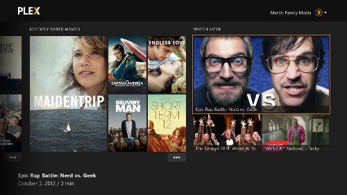 Plex on Xbox One makes streaming your movie library easy and elegant