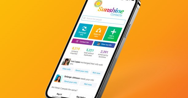 Sunshine Contacts is a new invite-only address book app from Marissa Mayer's Lumi Labs