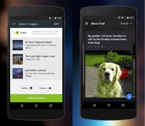 Imgur's new Android app delivers endless GIFs, pics, and memes