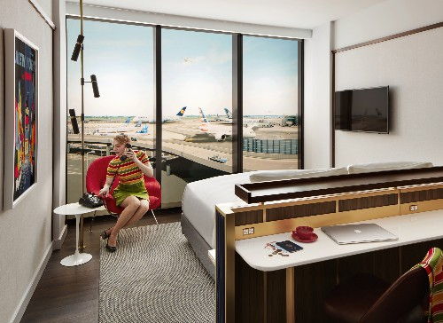 First look inside the TWA Hotel's sleek, midcentury-inspired rooms