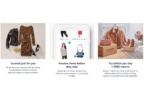 Amazon launches a personal shopper service that sends monthly curated clothing boxes