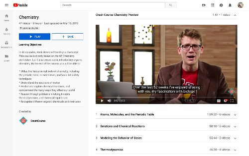 YouTube is launching educational playlists that won't include algorithmic recommendations