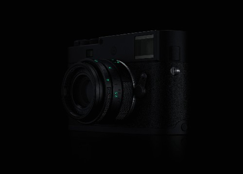 """Leica's """"stealth edition"""" Monochrom camera is all black and glows in the dark"""