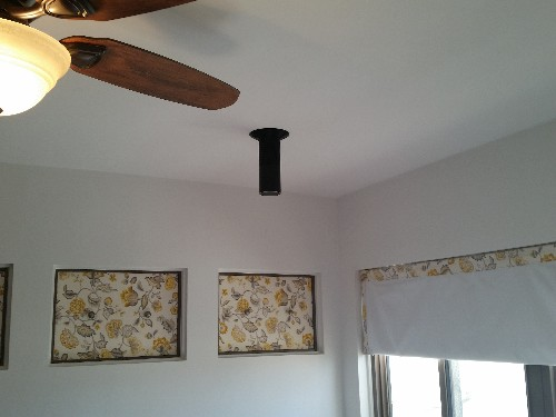 You could maybe put an Amazon Echo on the ceiling, I guess