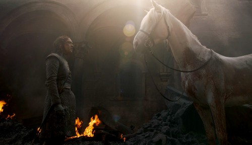 What was that horse at the end of Game of Thrones episode 5?