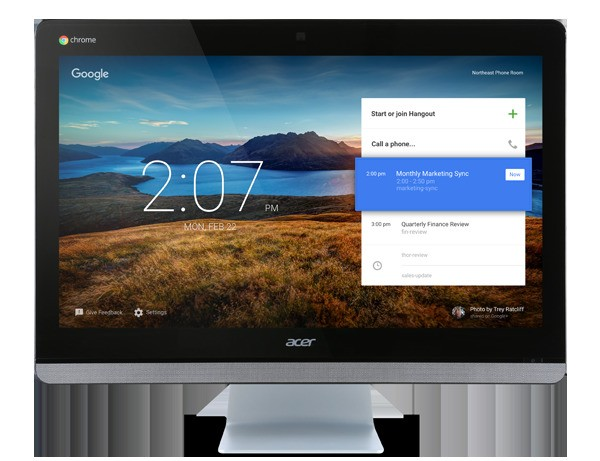 Google and Acer built a 24-inch desktop computer for video conferences