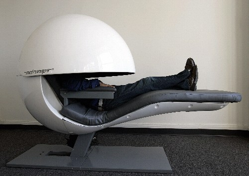Futuristic nap pods get upgraded with sleepy sounds, but do they work?