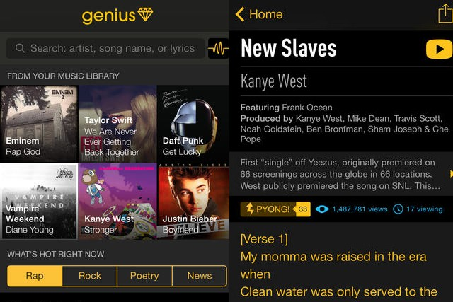 Rap Genius launches iPhone app, a 'pocket guide to human culture'