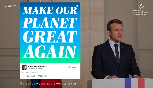 French President Macron said US climate researchers should come to France. He wasn't joking.