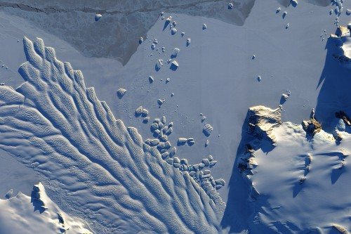 Antarctic ice at greater risk of melting than presumed, spy satellite data shows