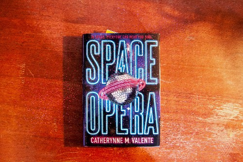 Space Opera is the funniest science fiction novel I've read since Hitchhiker's Guide to the Galaxy