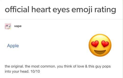The best new genre of blog is 'emoji review'