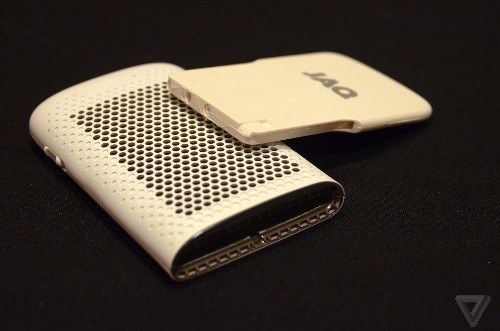 The Jaq charges a smartphone using hydrogen fuel cells