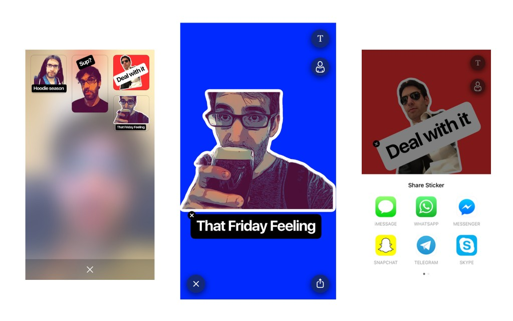 Prisma's new app turns your selfies into chat stickers