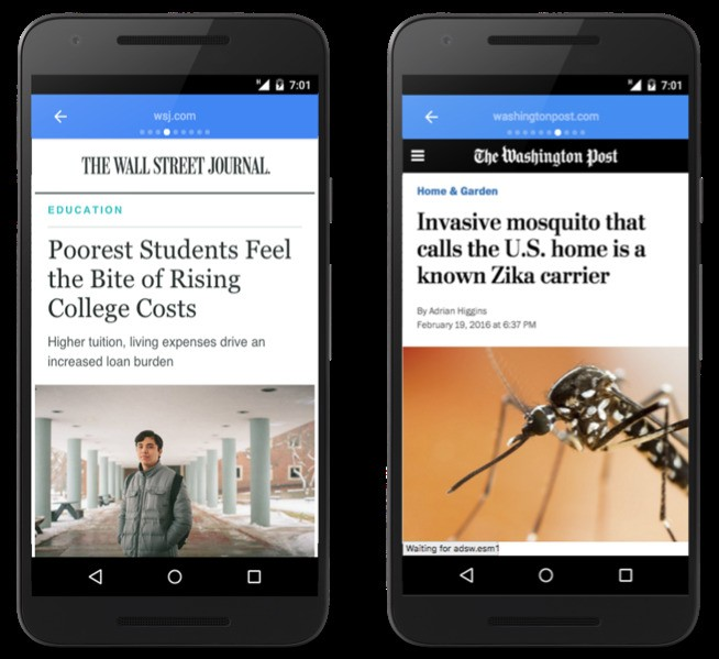 Google's answer to Facebook Instant Articles is now available on the mobile web